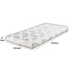 Twin Size Mattress with Patterned Fabric Upholstery, White - BM208162