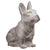 Cement Figurine of French Bulldog Sitting Upright in Concrete Finish, Gray - BM208587