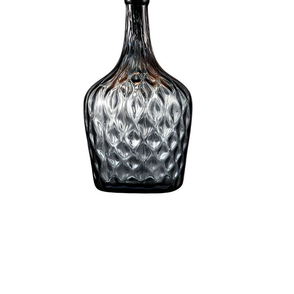 Contemporary Table Lamp with Hand Blown Glass Pattern. in Gold and Gray - BM209017