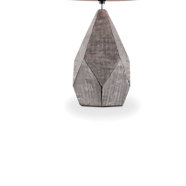 Contemporary Table Lamp with Geometric Design and Multiple Facets in Gray - BM209035