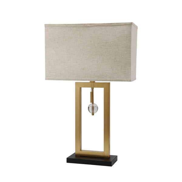 Contemporary Table Lamp with Rectangular Frame Base in Gold and Black - BM209039