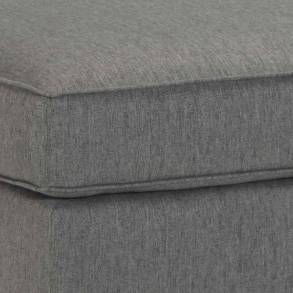 Wooden Polyester Upholstered Ottoman with Tapered Legs in Charcoal Gray - BM209244