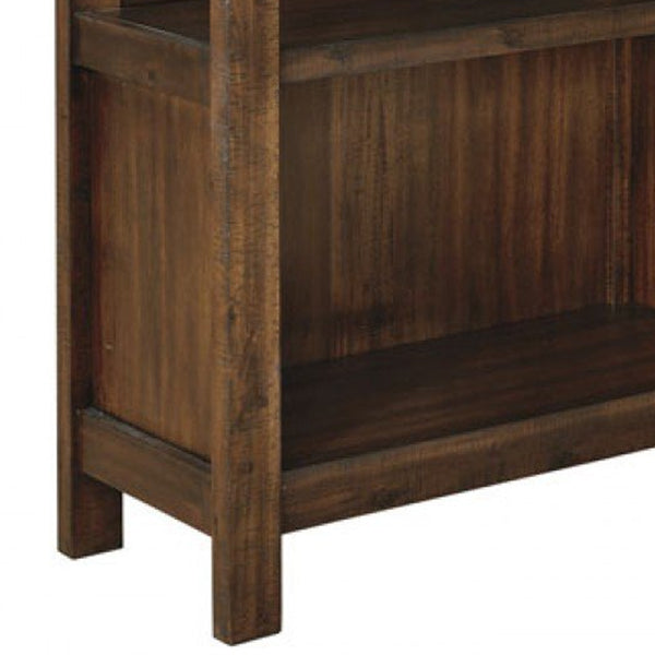 Wooden Bookcase with 3 Open Shelves and 1 Open Compartment in Brown - BM209260