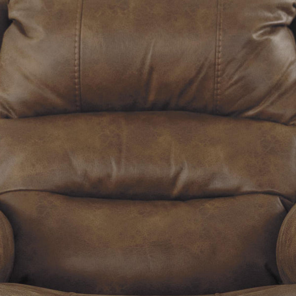 Leatherette Metal Frame Power Lift Recliner with Tufted Backrest in Brown - BM209304