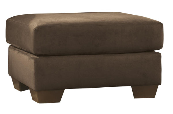 Polyester Upholstered Ottoman with Block Tapered Legs in Dark Brown - BM209710
