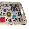 Rugged Designed Tray with Typography Print and Curved Edges, Multicolor - BM210378