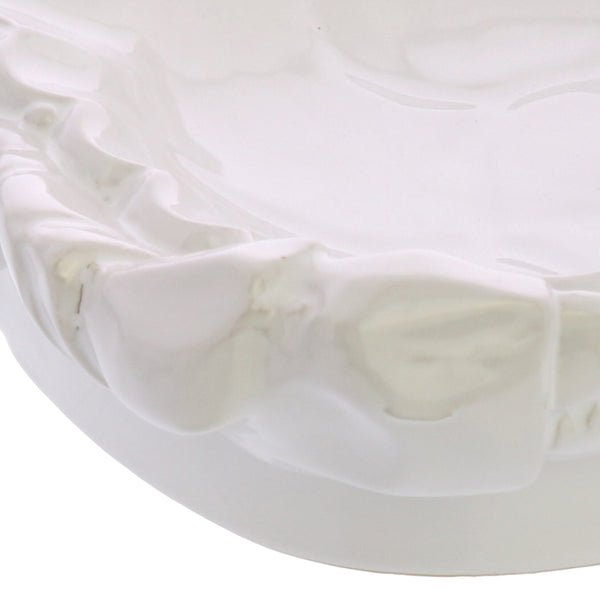 Transitional Styled Ceramic Crab Shaped Large Soap Dish in White - BM210583