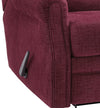 Button Tufted Wooden Recliner with Gliding Mechanism in Red - BM210671
