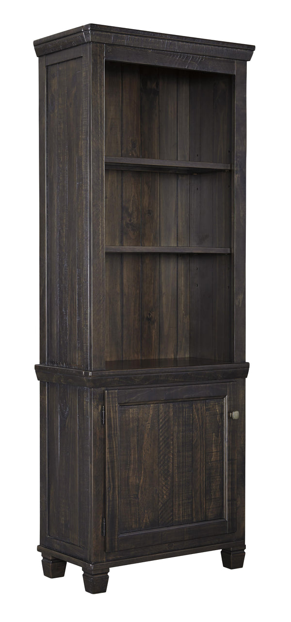 Wooden Right Pier Cabinet with 1 Door and 2 Shelves in Dark Brown - BM210968