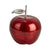 13 Inch Aluminum Apple Accent Decor with Branch and Leaf, Red and Silver - BM211033