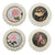4 Piece Transitional Plate Design Wall Decor with Nature Theme, Multicolor - BM211057