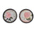 Plate Design Round Wall Decor with Floral and Scripted Pattern, Multicolor - BM211070