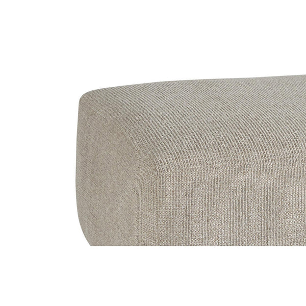 Square Textured Fabric Upholstered Oversized Accent Ottoman in Taupe Brown - BM213363