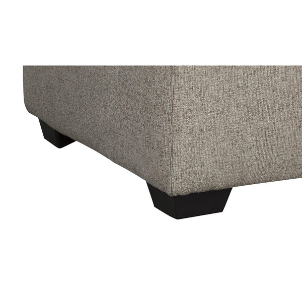 Square Textured Fabric Upholstered Oversized Accent Ottoman in Light Gray - BM213372