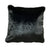 20 X 20 Inch Fabric Upholstered Accent Pillow with Fur Like Texture, Black - BM214110