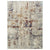 7 X 5 Feet  Polyester Rug with Abstract Pattern, Beige and Brown - BM214138