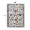 7 X 5 Feet  Polyester Rug with Woven Tribal Pattern, Multicolor - BM214142