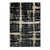 7 X 5 Feet Polypropylene Rug with Dripping Pattern, Black and White - BM214145