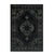 7 X 5 Feet Worn Aged Polypropylene Rug with Medallion Pattern, Black - BM214146