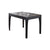 Faux Marble Top Wooden Dining Table with Straight Legs, Dark Brown - BM214731