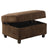 Fabric Upholstered Rectangular Ottoman with Hidden Storage, Brown - BM214940