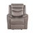 Fabric Upholstered Glider Recliner with Tufted Back Cushions, Brown - BM214947