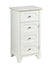1 Drawer Wooden Cabinet with False Drawer Door and Marble Top, White - BM214986