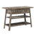 1 Drawer and 2 Shelves Reclaimed Wood Console Table with Angled Legs, Gray - BM215062