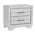 2 Drawer Wooden Nightstand with Metal Bar Pulls and Chamfered Feet, White - BM215433