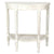 1 Drawer Half Moon Shaped Console with Bulged Front and Turned Legs, White - BM215627