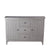 2 Door and 3 Drawer Sideboard with Round Metal Knobs, Gray - BM216847