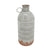 15 Inch Metal Milk Jar Design Accent Decor with Rimmed Opening, Gray - BM217180