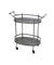 Oval Metal Frame Service Cart with Casters, Gray and Black - BM217301