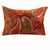 36 x 20 Polyester King Size Pillow Sham with Paisley Print, Cinnamon Red - BM218808