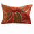 26 x 20 Polyester Standard Size Pillow Sham with Paisley Print, Cinnamon Red - BM218809