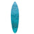 Wooden Surfboard Wall Art with Ocean Print, Glossy Blue - BM220214