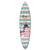 Wooden Surfboard Wall Art with Lighthouse Print and Typography, Multicolor - BM220215