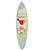 Wooden Surfboard Wall Art with Cocktail Print and Typography, Multicolor - BM220216
