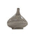 13 Inches Metal Frame Tear Drop Shape Vase, Gray - BM221037