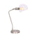 17 Inches Metal Frame Desk Lamp with Glass Shade, Silver - BM221048