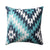 18 x 18 Handwoven Cotton Accent Pillow with Geometric Print, Multicolor - BM221646