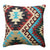 18 x 18 Handwoven Textured Cotton Accent Pillow with Tribal Print, Multicolor - BM221648