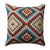 18 x 18 Inches Kilim Printed Cotton Accent Pillow, Red and Blue - BM221650