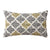 20 x 12 Handwoven Cotton Accent Pillow with Jacquard Print, Multicolor - BM221671