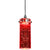 1.2 Watt LED Hanging Ceiling Lamp with Cylindrical Glass Shade, Red - BM223045