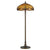 2 Bulb Tiffany Floor Lamp with Dragonfly Design Shade, Multicolor - BM223536