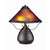 Pot Bellied Metal Body Table Lamp with Conical Mica Shade, Bronze - BM223691