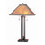 Ball Inlay Metal Body Table Lamp with Square Mica Shade, Bronze - BM223694