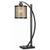 60 Watt Table Lamp with Metal Body and Mica Drum Shade, Black - BM223695