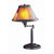 Metal Body Swing Arm Table Lamp with Conical Mica Shade, Bronze - BM223703